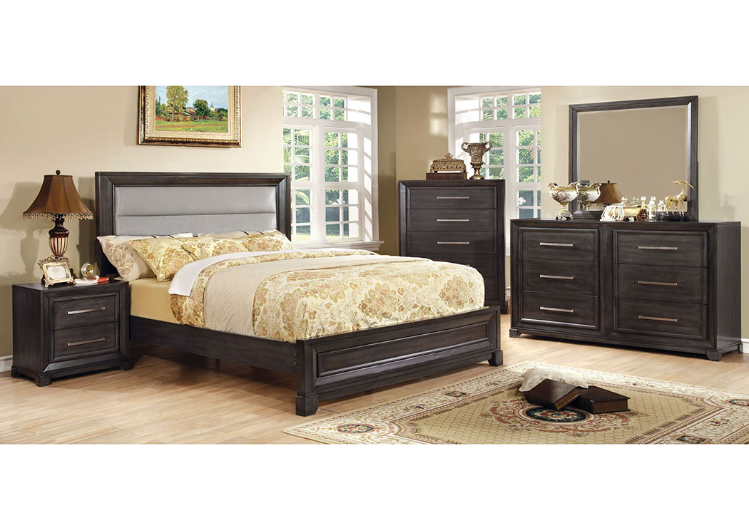 Bradley Upholstered Queen Platform Bed,Furniture Of America