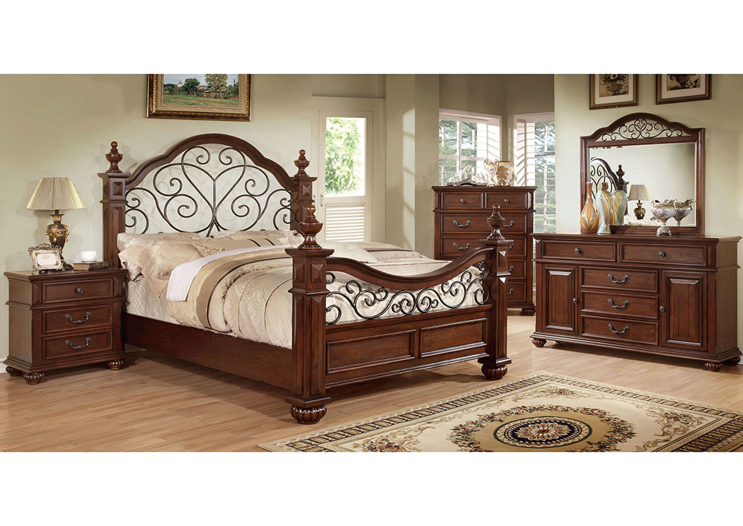 Landaluce Queen Poster Bed,Furniture of America
