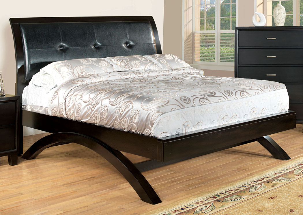 Delano Espresso Full Sleigh/Platform Bed,Furniture of America