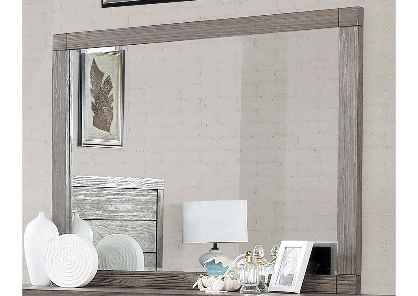 Asterope Gray Dresser & Mirror,Furniture of America