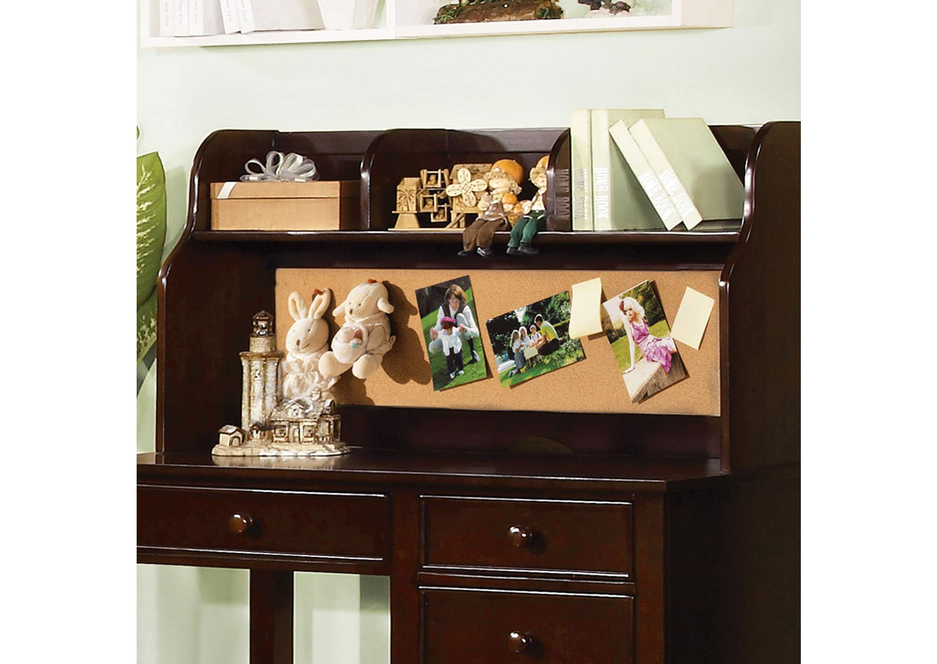 Omnus Dark Walnut Desk Hutch,Furniture of America