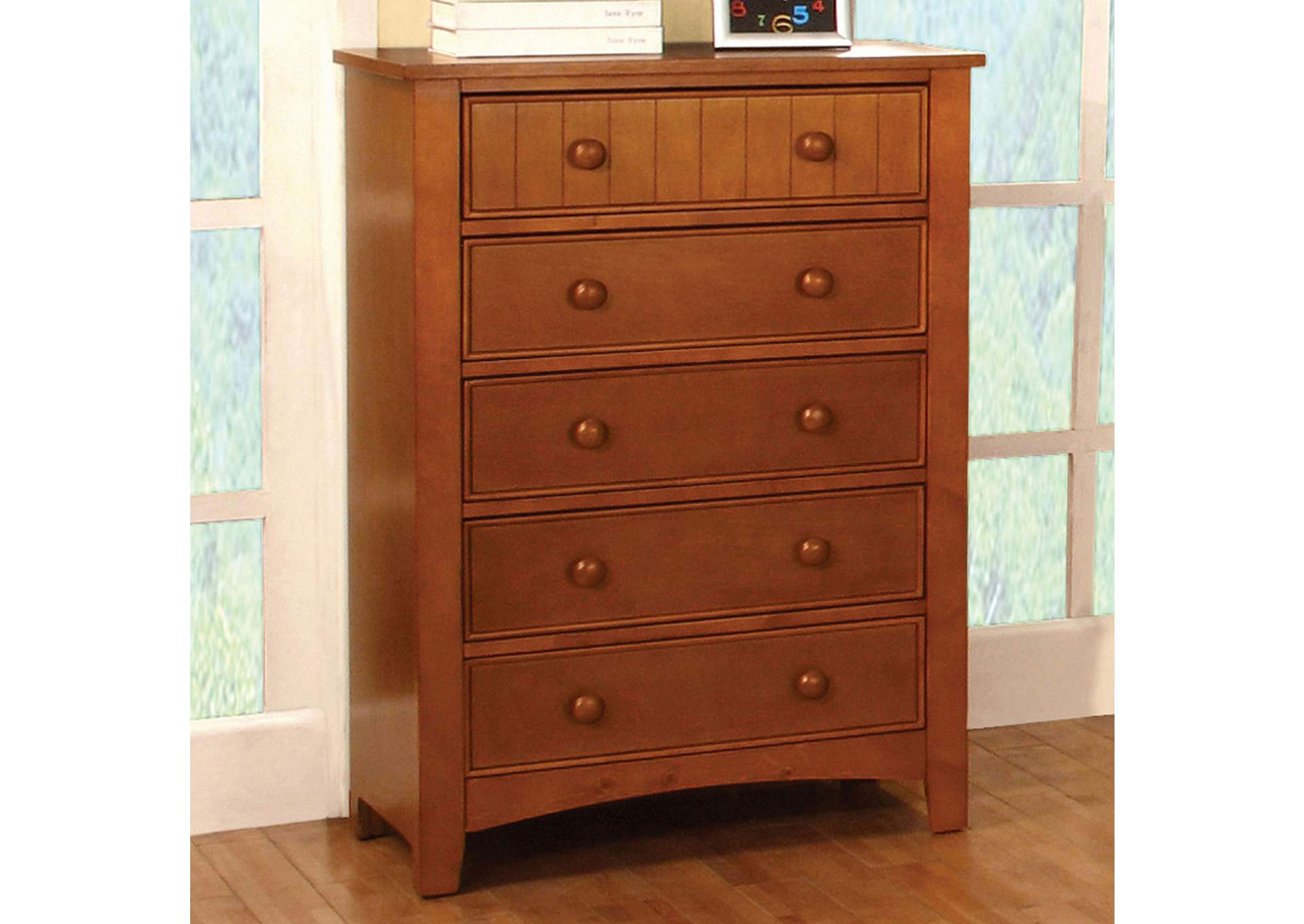 Omnus Oak Drawer Chest,Furniture of America