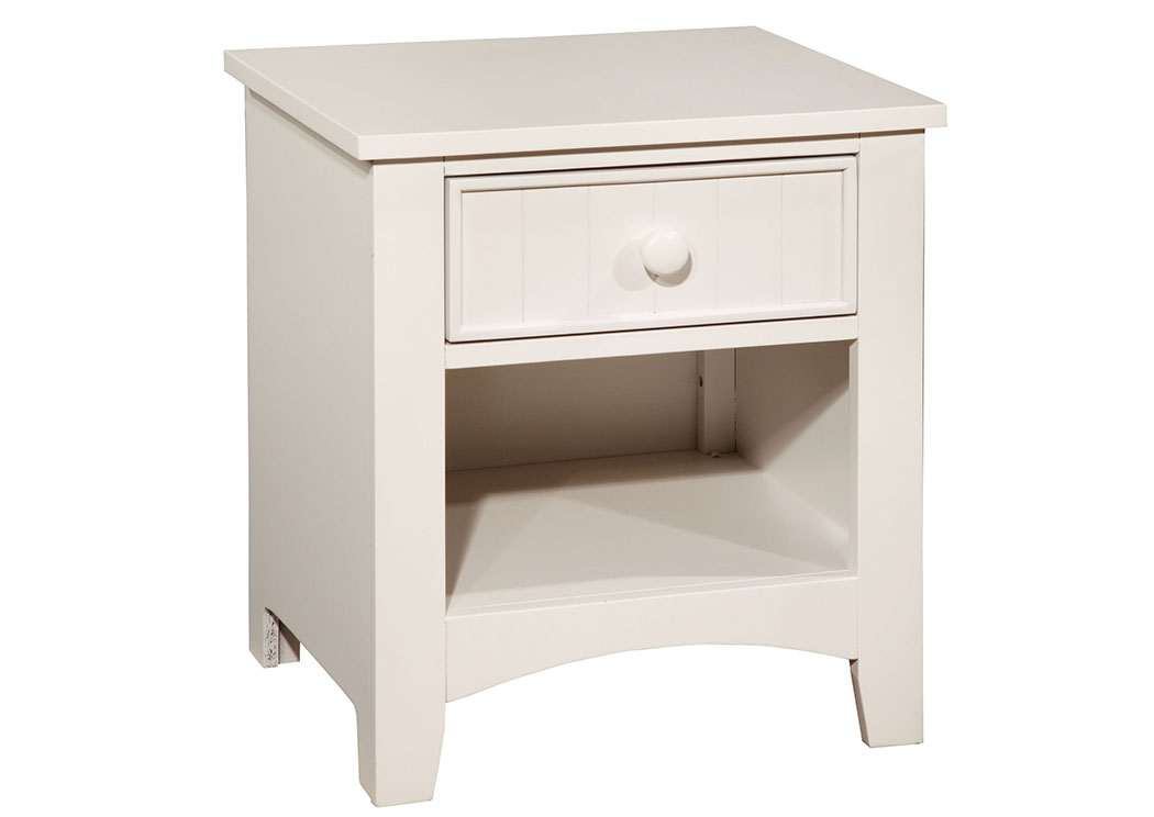 Long Island Discount Furniture Omnus White Nightstand