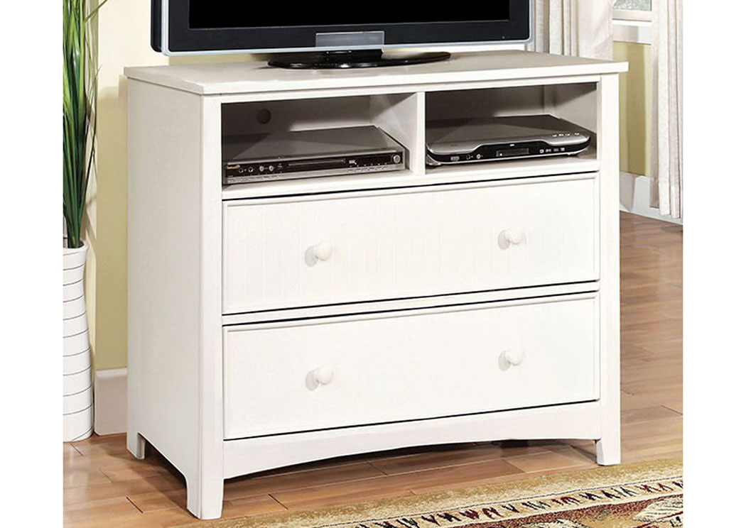 Omnus White Media Chest,Furniture of America