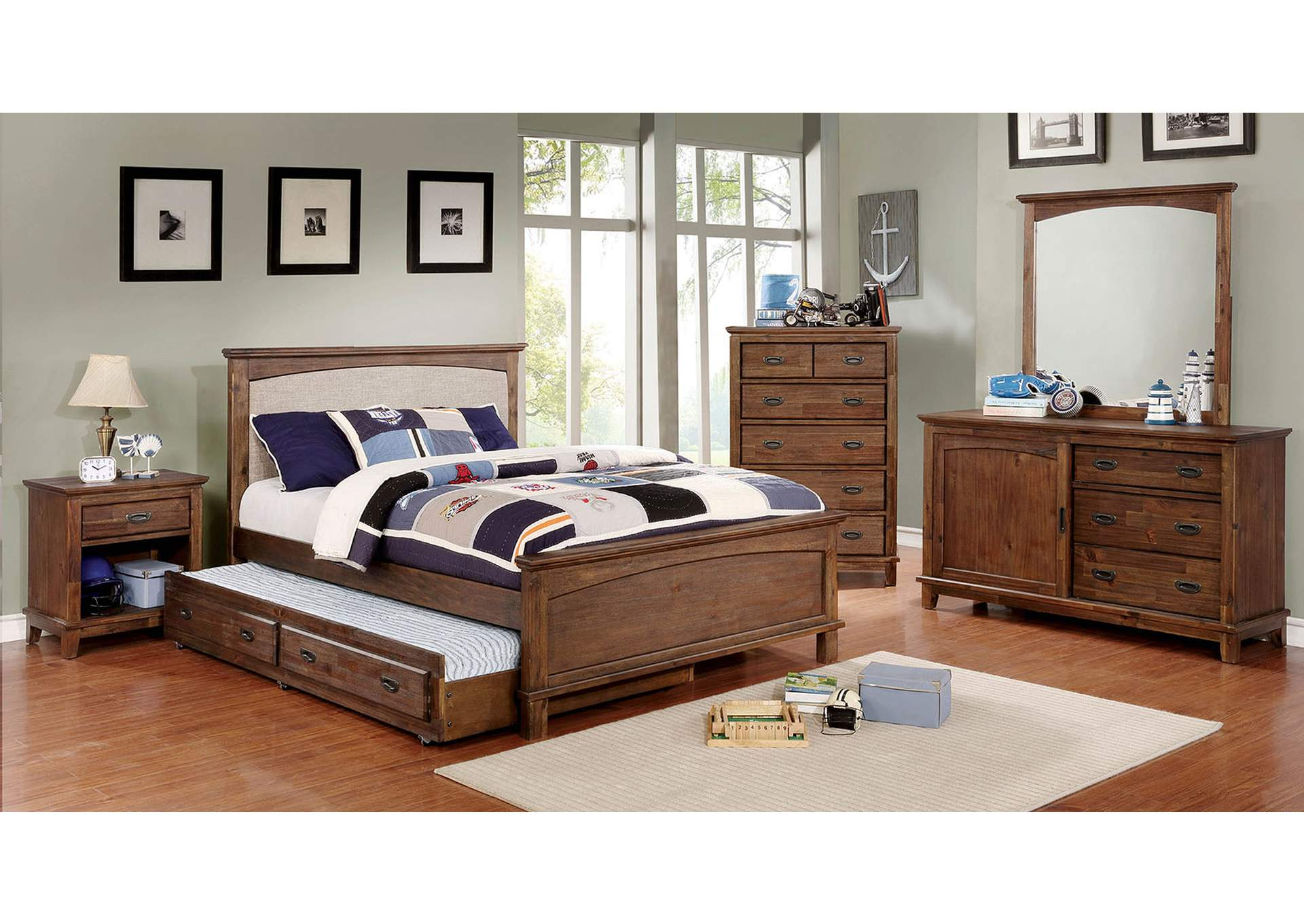 Colin Cherry/White Full Bed,Furniture of America