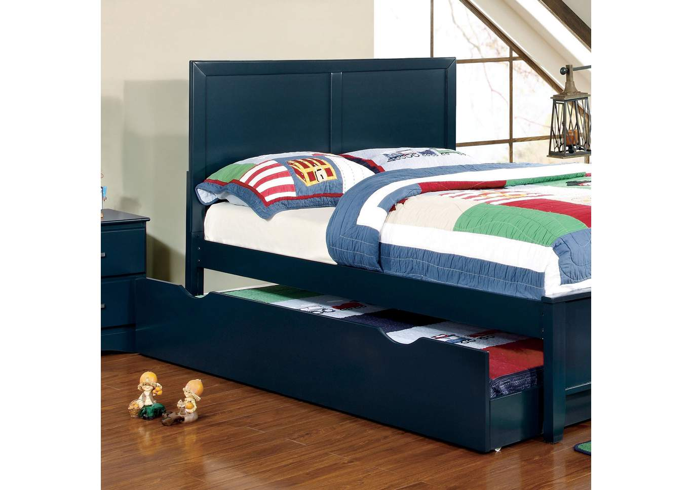 Prismo Blue Queen Headboard,Furniture of America