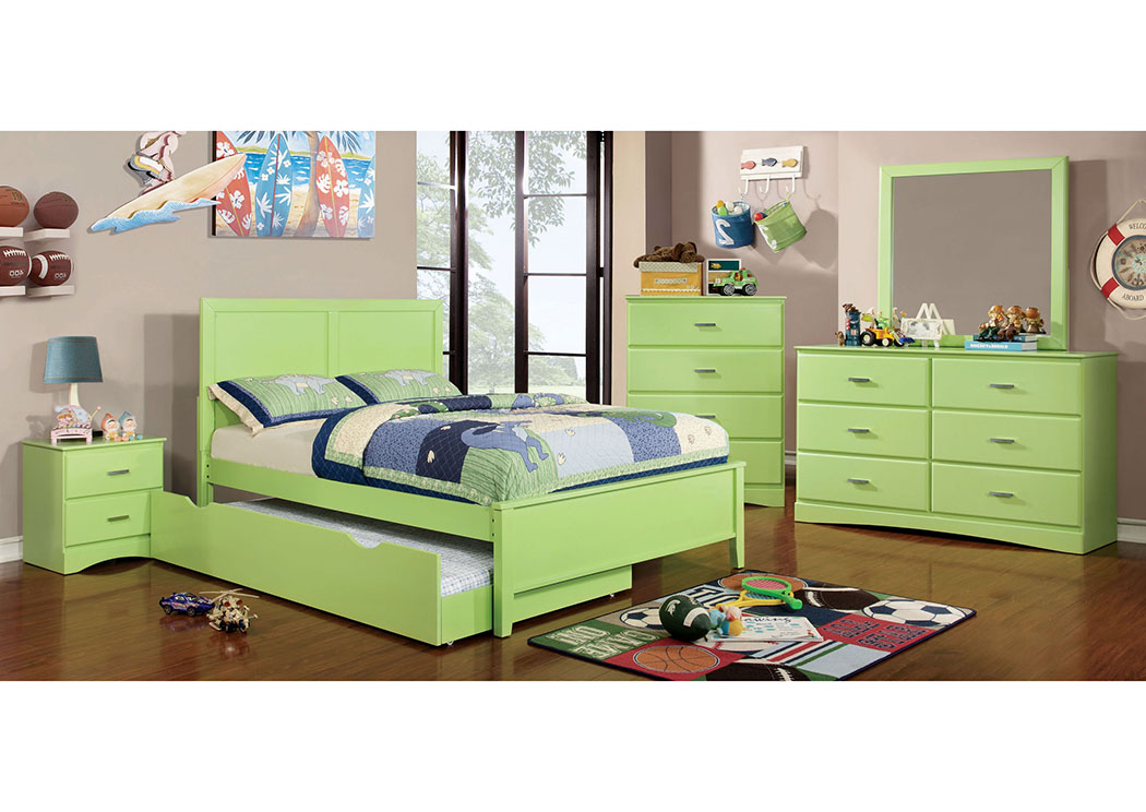 Prismo Green Full Platform Bed,Furniture of America TX