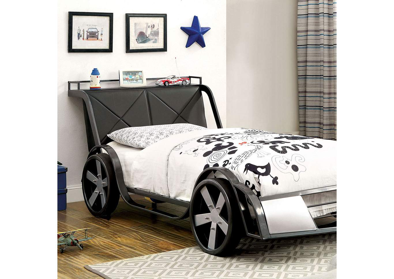Racer Black Twin Bed,Furniture of America