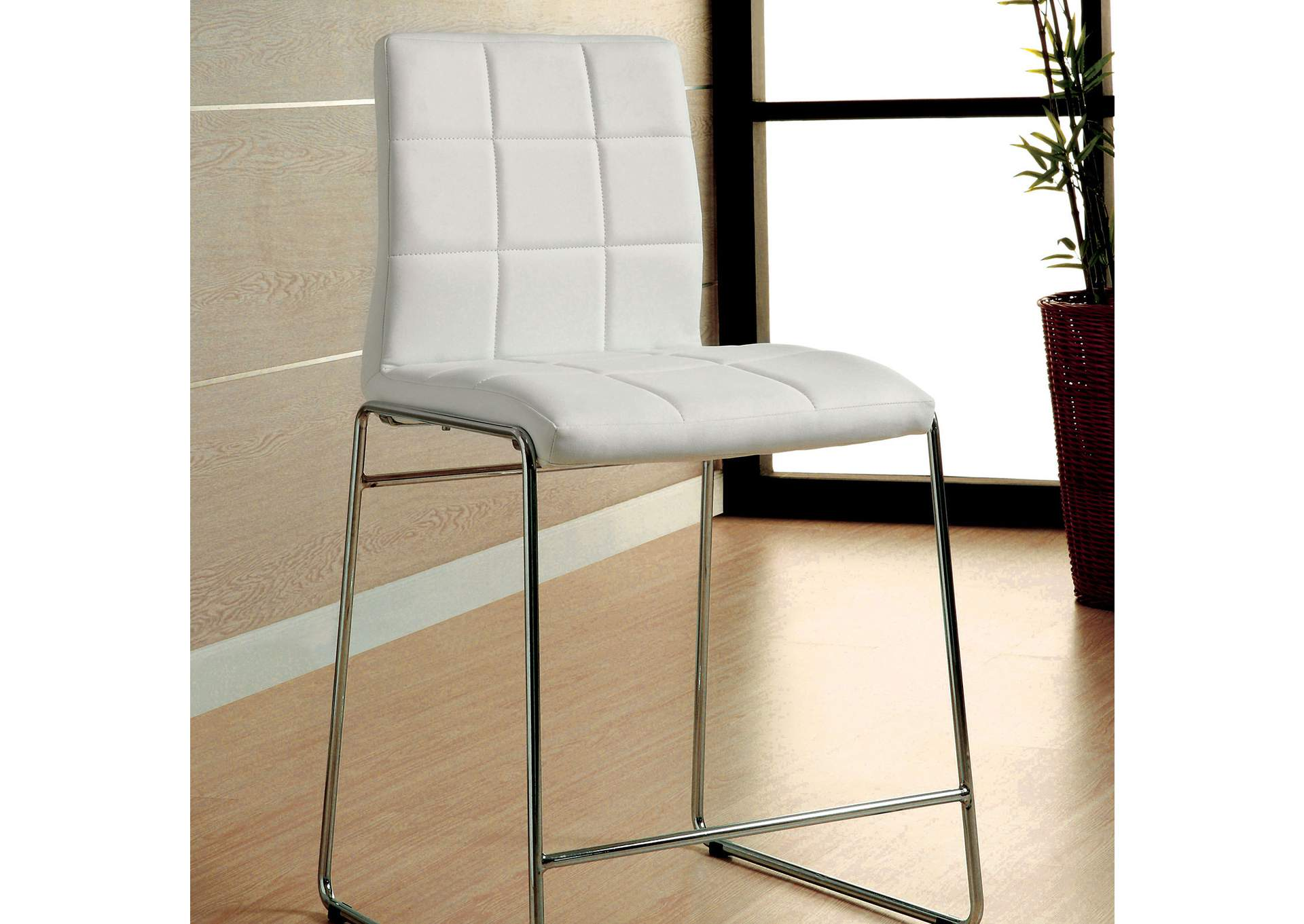 brothers fine furniture kona ii white counter height chair set of 2