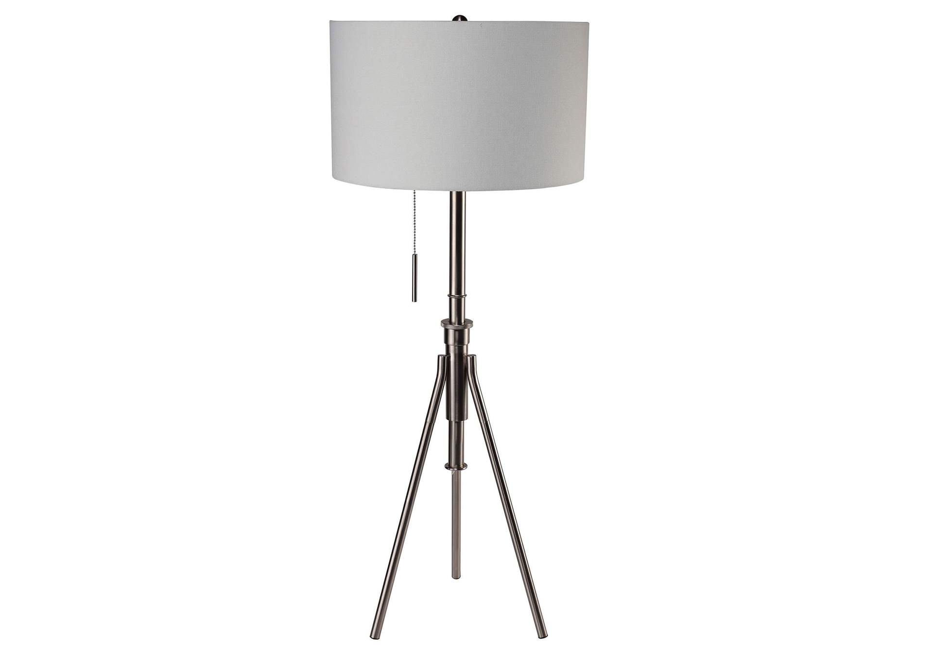 Zaya Brushed Steel Floor Lamp,Furniture of America