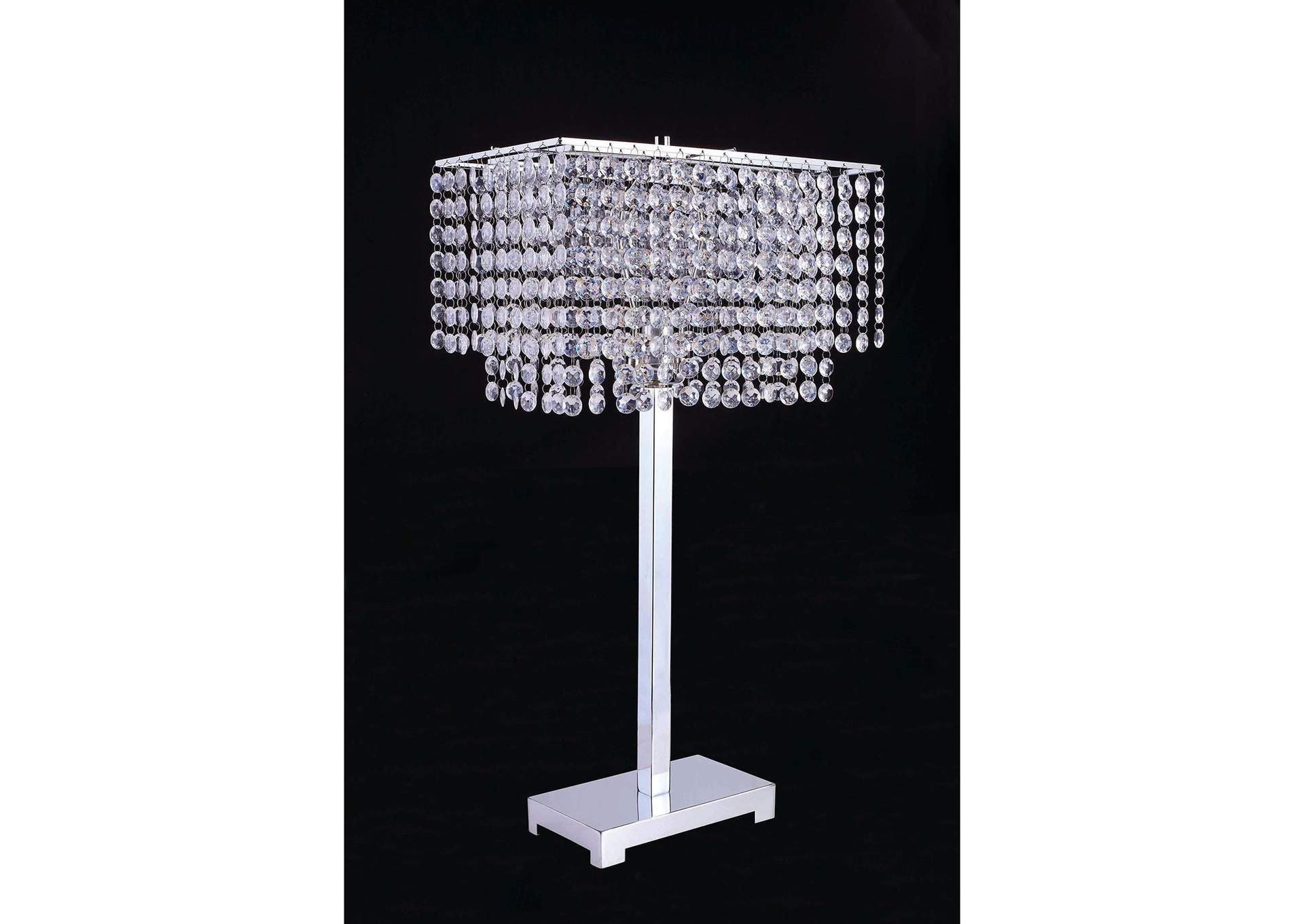 Furniture Ville Bronx Ny Rena Faux Diamond Crystal Table Lamp