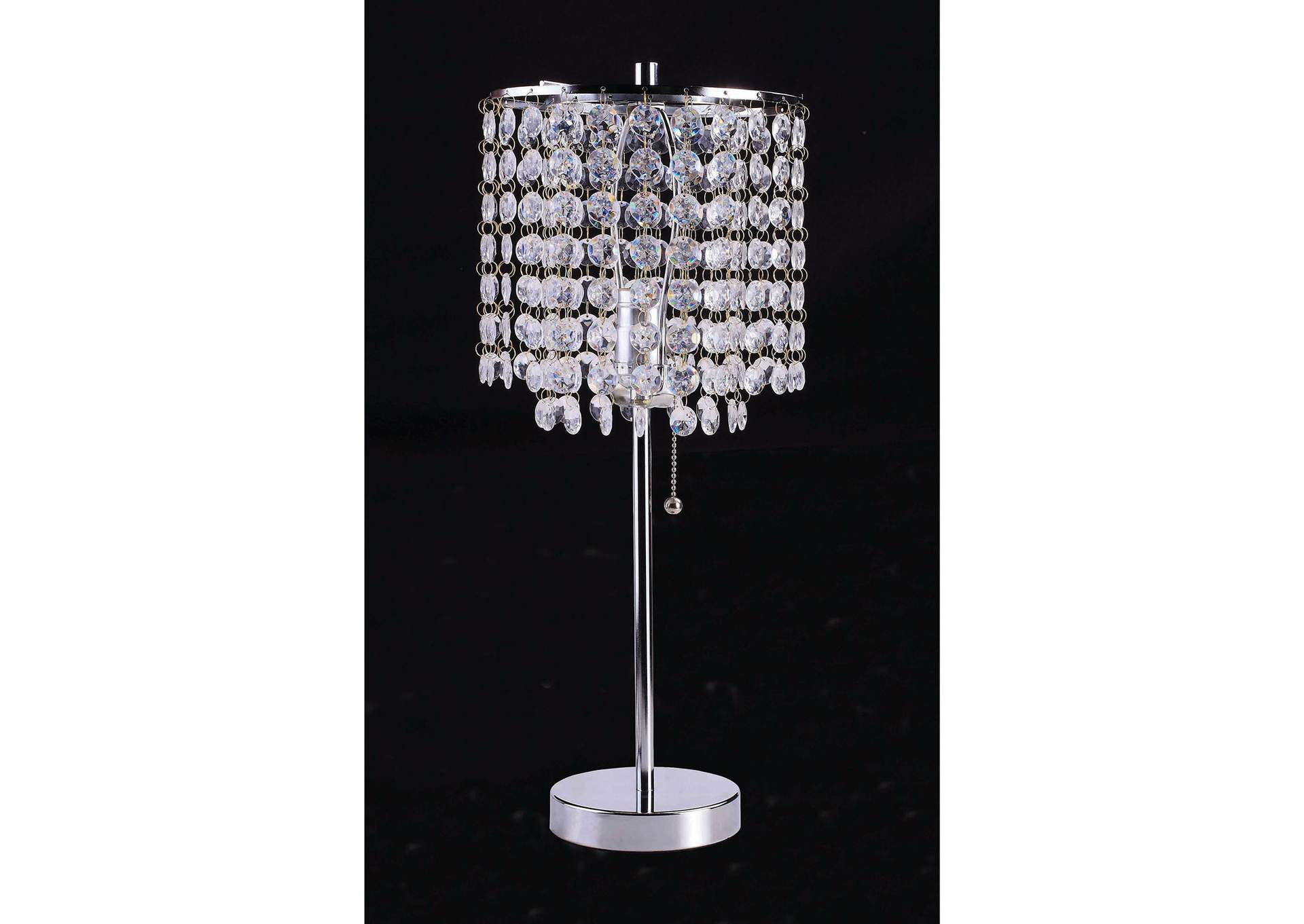 Furniture Ville Bronx Ny Perla Faux Crystal Table Lamp