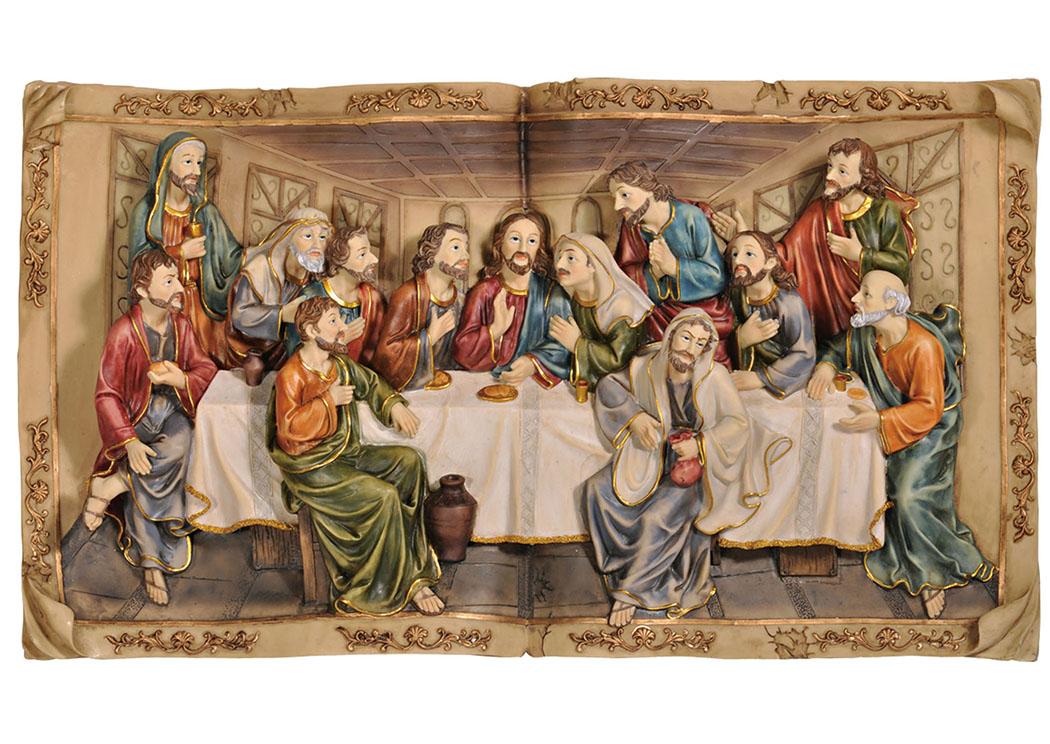 "Homili 8"" Last Supper Plaque,Furniture of America"