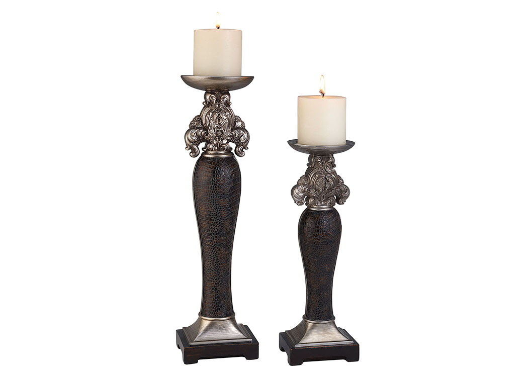Tracey Brown Candle Holder Set (Set of 4),Furniture of America