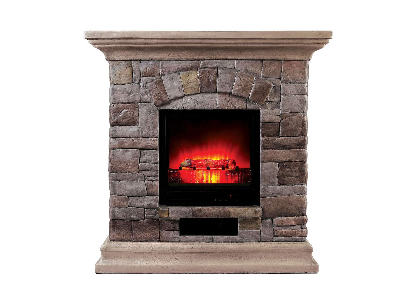Juna Portable Faux Stone Fireplace w/Heat & Light,Furniture of America