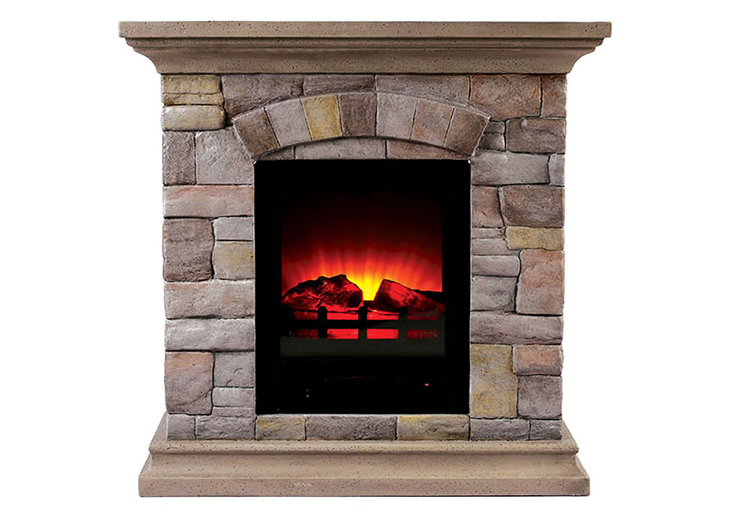 best buy furniture and mattress juna portable faux stone fireplace w heat light. Black Bedroom Furniture Sets. Home Design Ideas