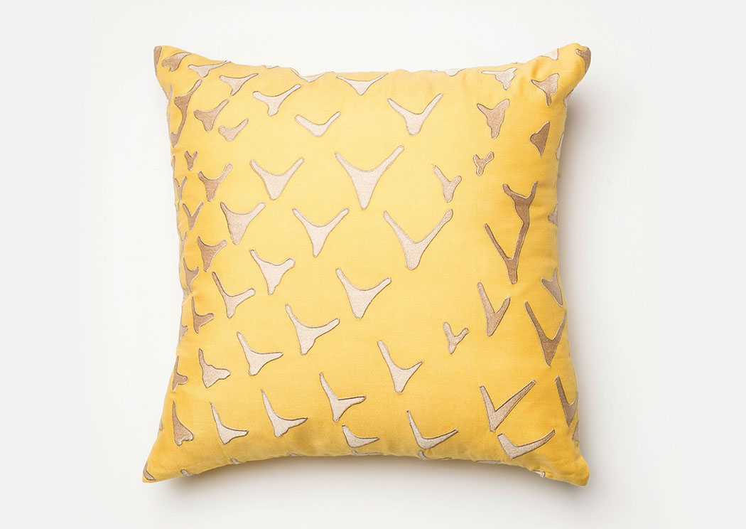 Britt Yellow Pillow,Furniture of America