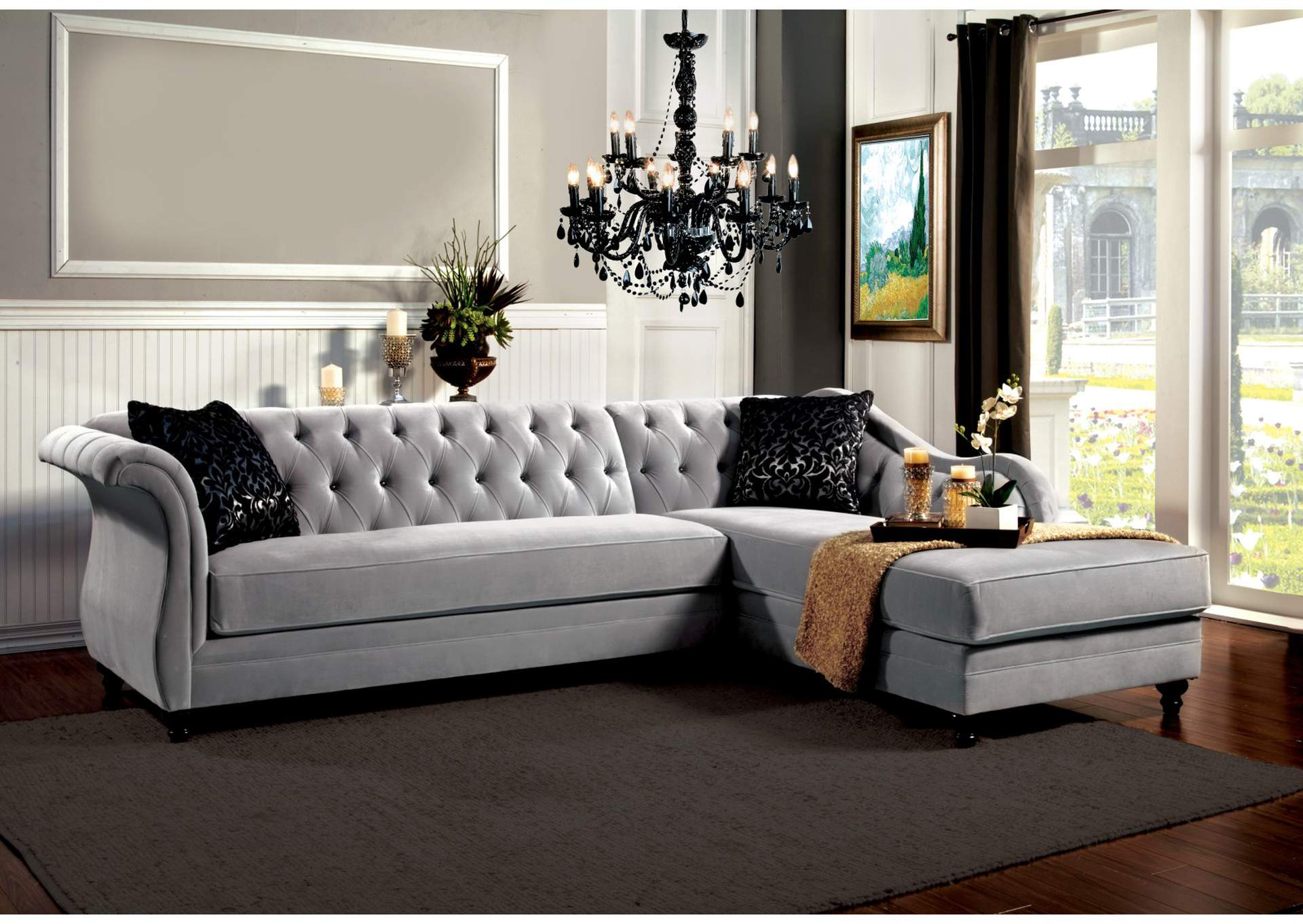 Rotterdam Traditional Sectional,Furniture of America