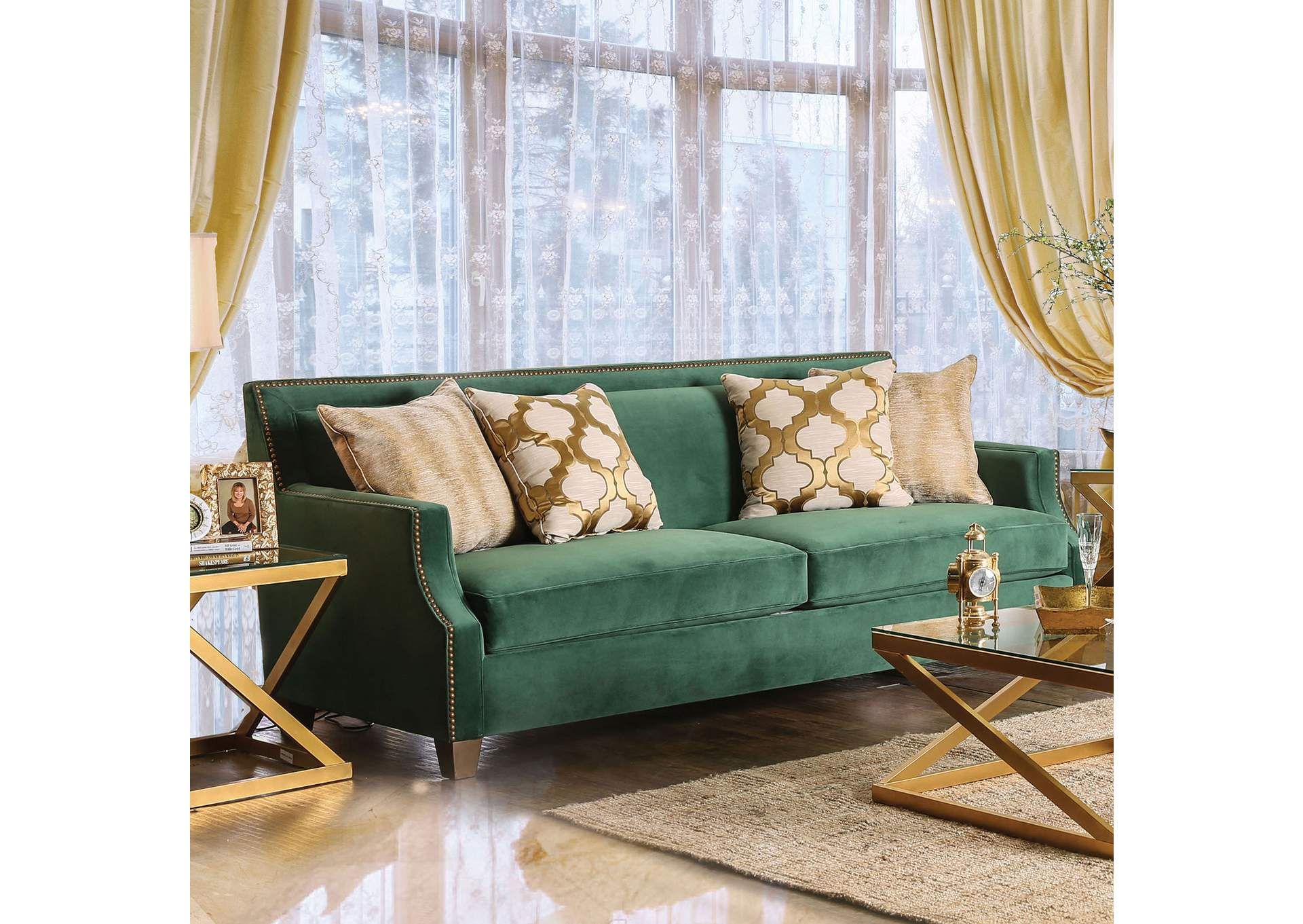 Fantastic Foothills Family Furniture Verdante Emerald Green Sofa W Pillows Pdpeps Interior Chair Design Pdpepsorg