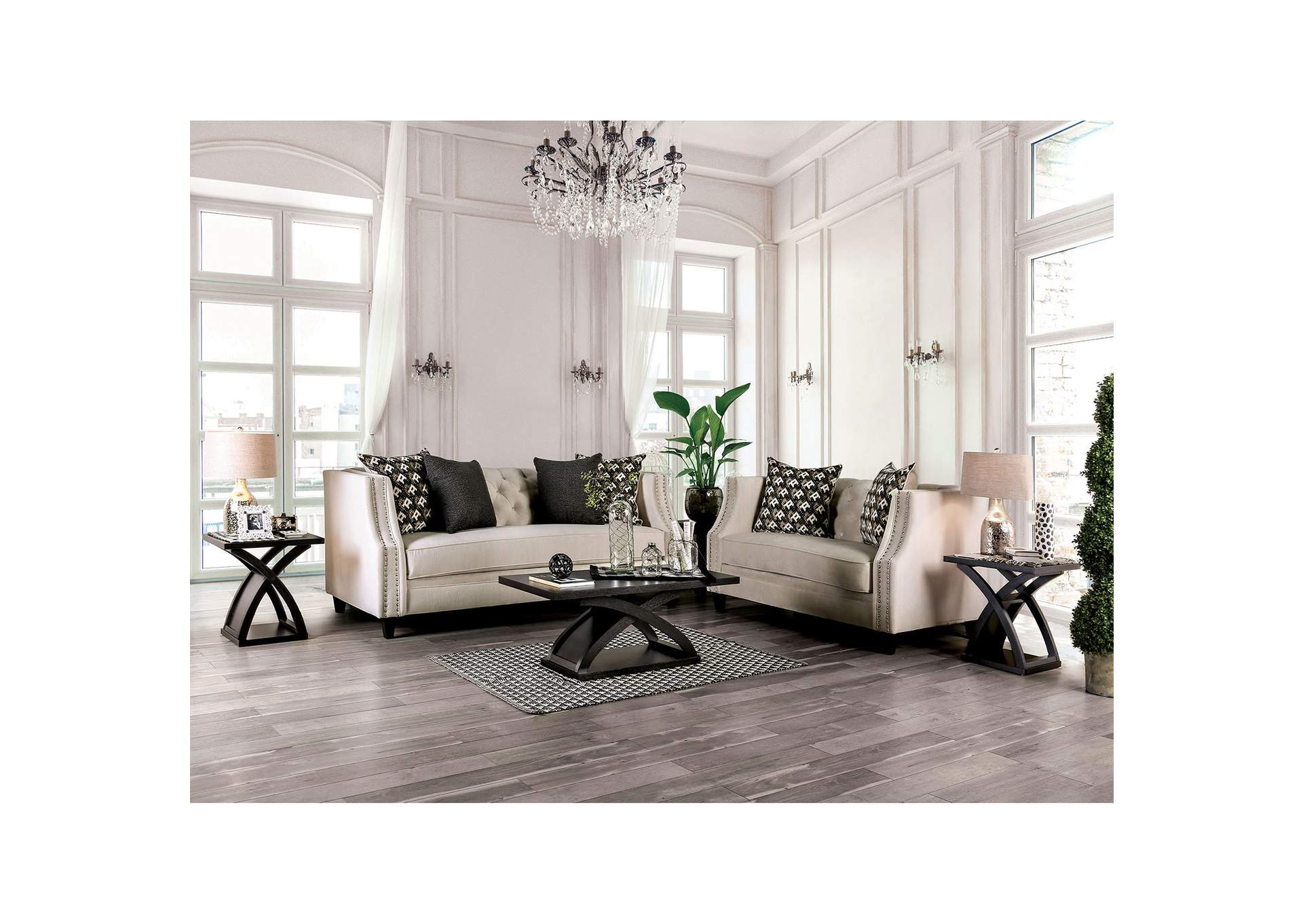 Excellent Ideal Furniture San Antonio West Aniyah Beige Sofa Loveseat Bralicious Painted Fabric Chair Ideas Braliciousco