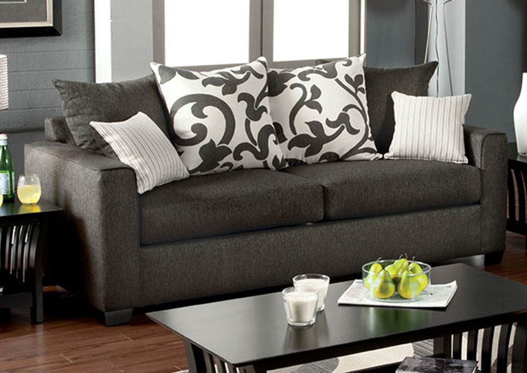 Cranbrook Charcoal Sofa,Furniture of America