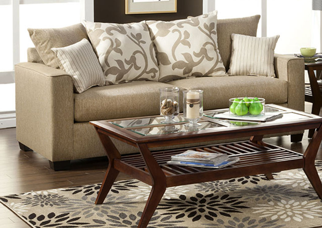 Colebrook Beige Sofa,Furniture of America