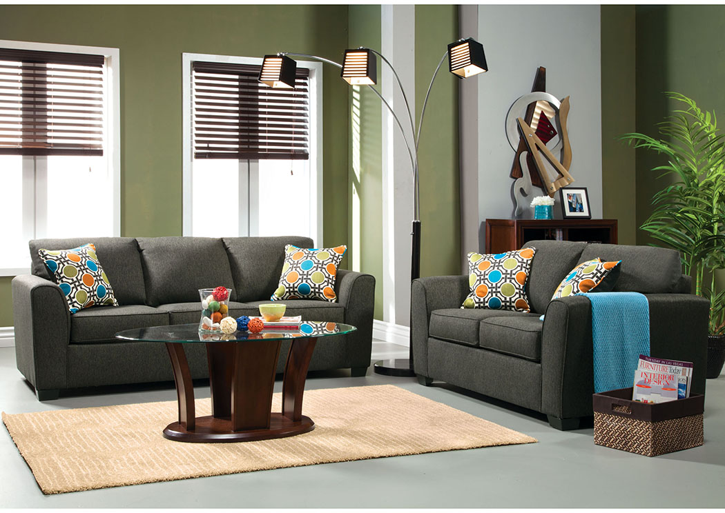 Playa Gray Sofa And Loveseat,Furniture Of America