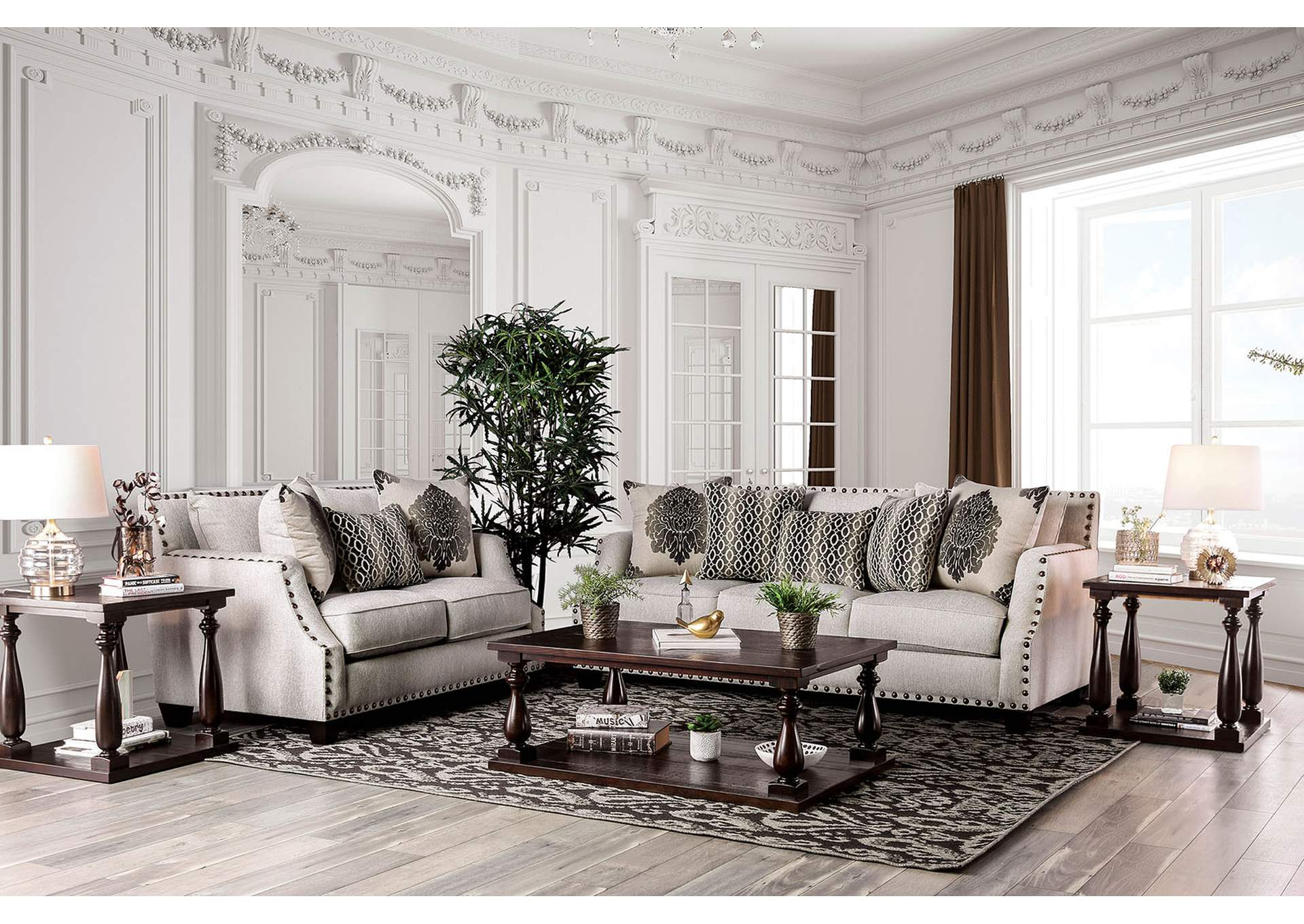 Cornelia Loveseat,Furniture of America