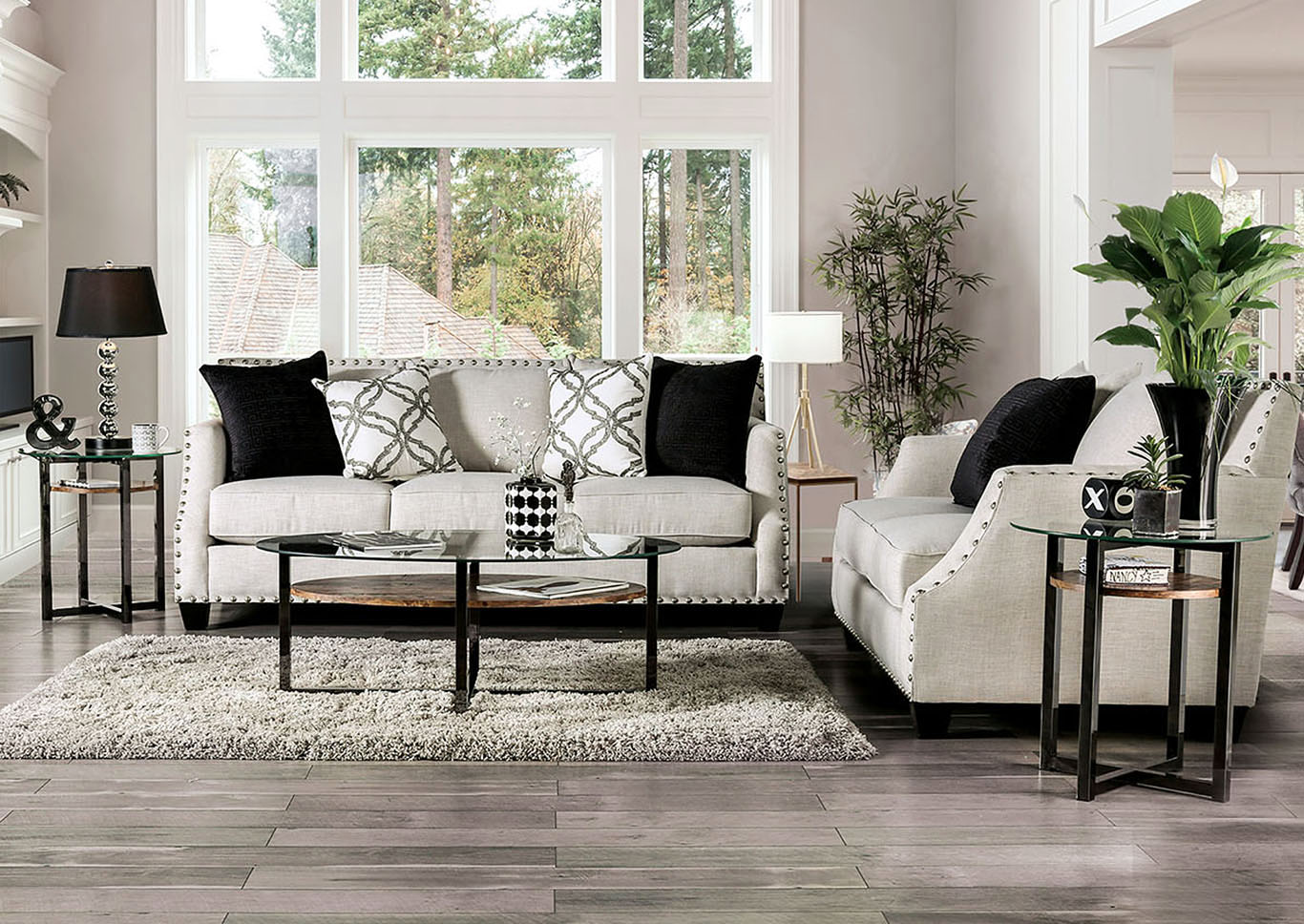 Ideal Furniture San Antonio West Phoibe Gray Sofa