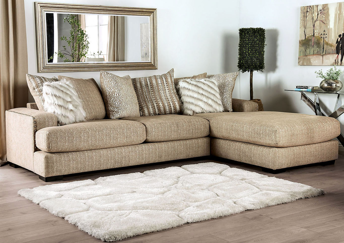 Peaceful Living Furniture Avery Beige Sectional
