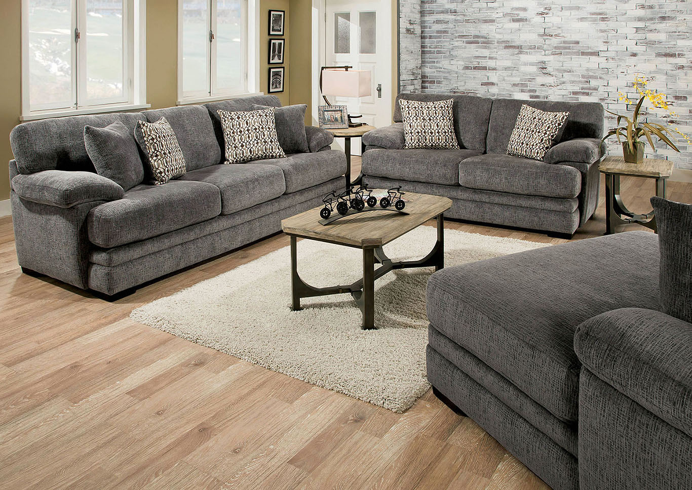 Abrianna Gray Sofa,Furniture Of America