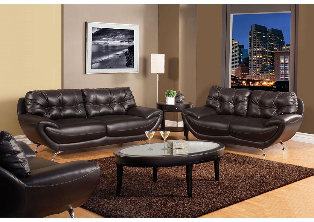 Charmant Volos Espresso Sofa And Loveseat,Furniture Of America