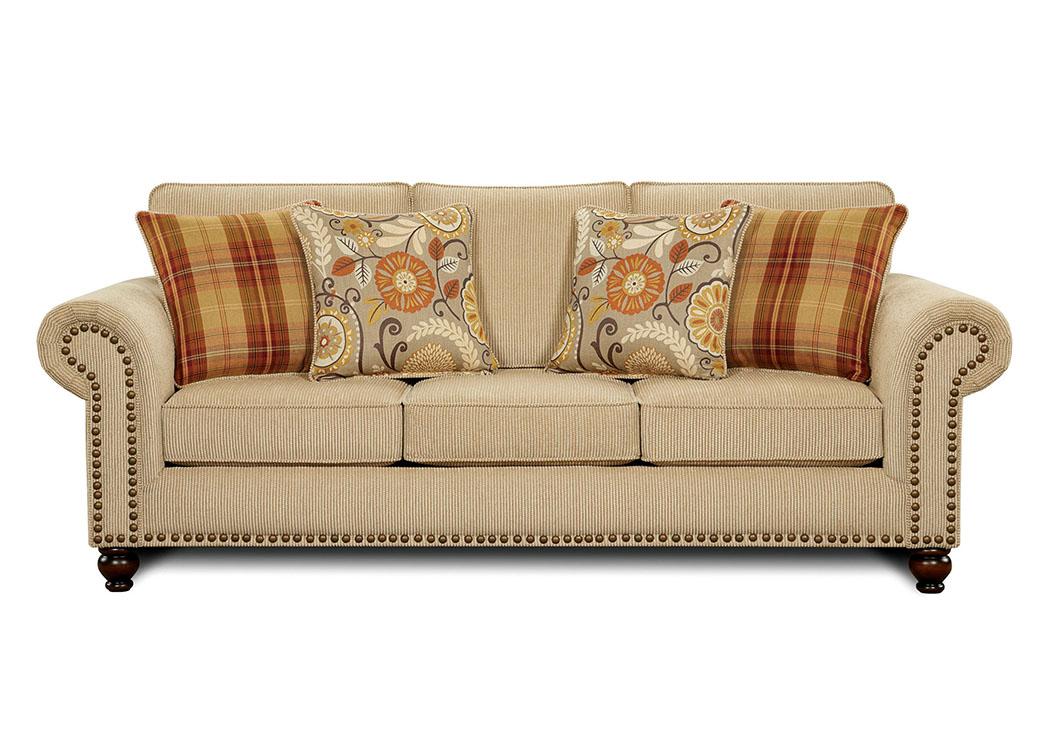 Rightway Furniture Rental Rollins Tan Sofa