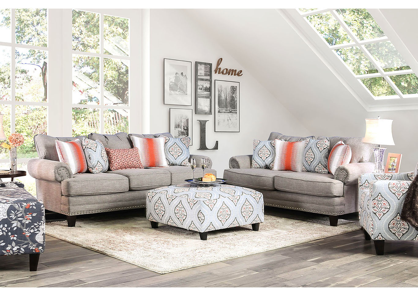 Tallulah Gray Sofa,Furniture Of America