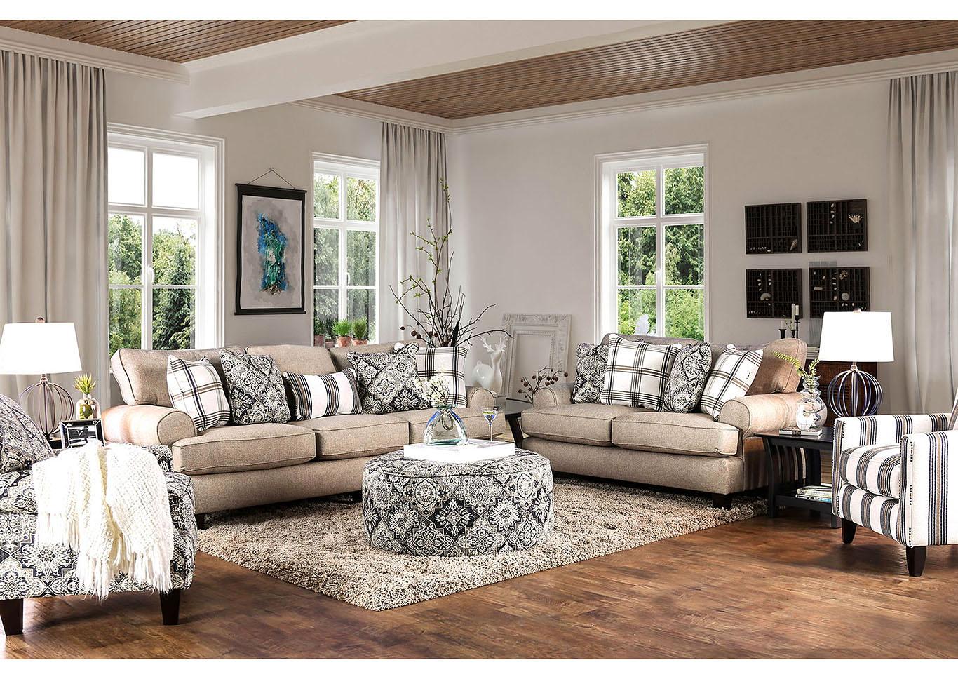 Bernadette beige sofafurniture of america