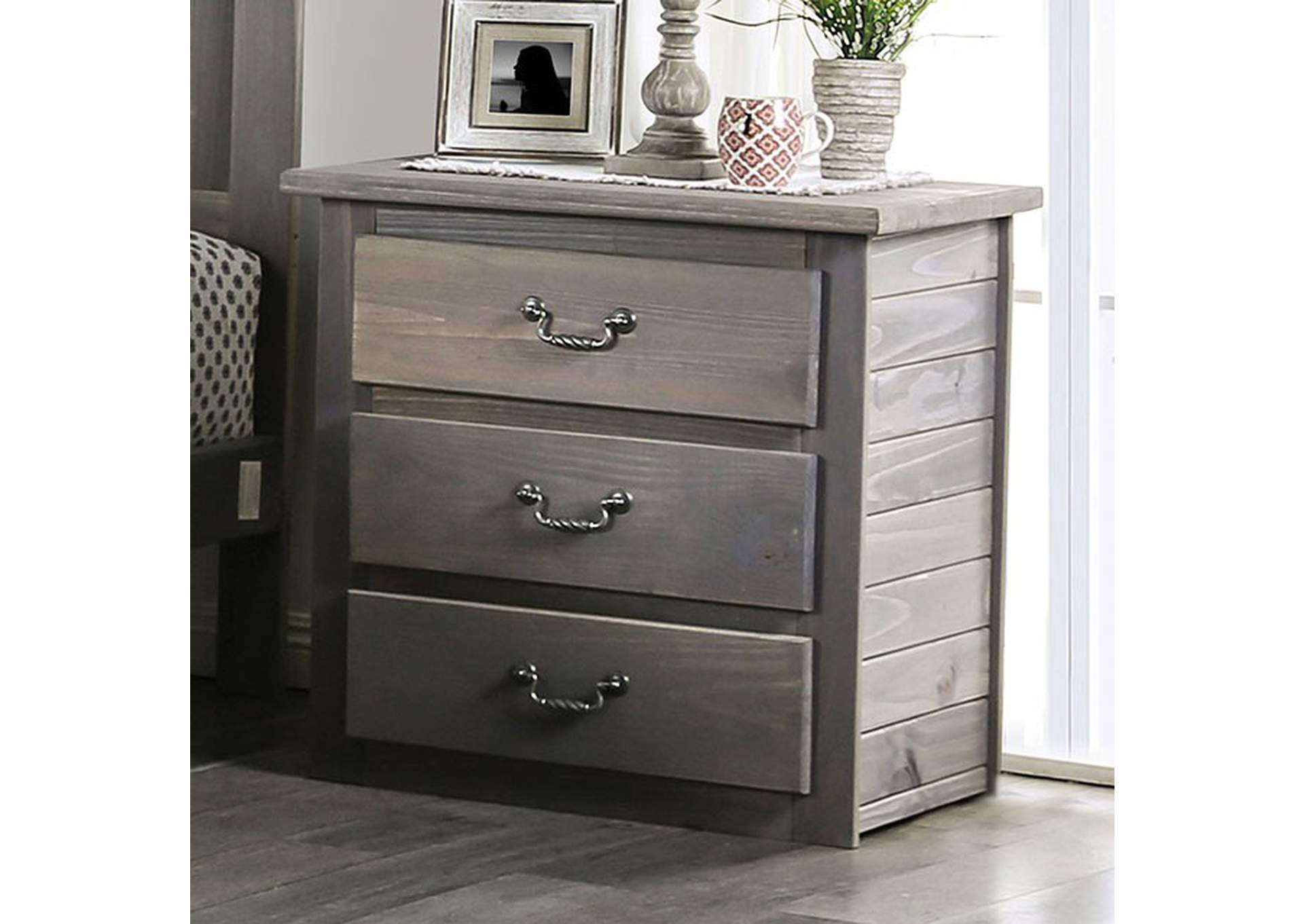 Rockwall Grey Night Stand,Furniture of America