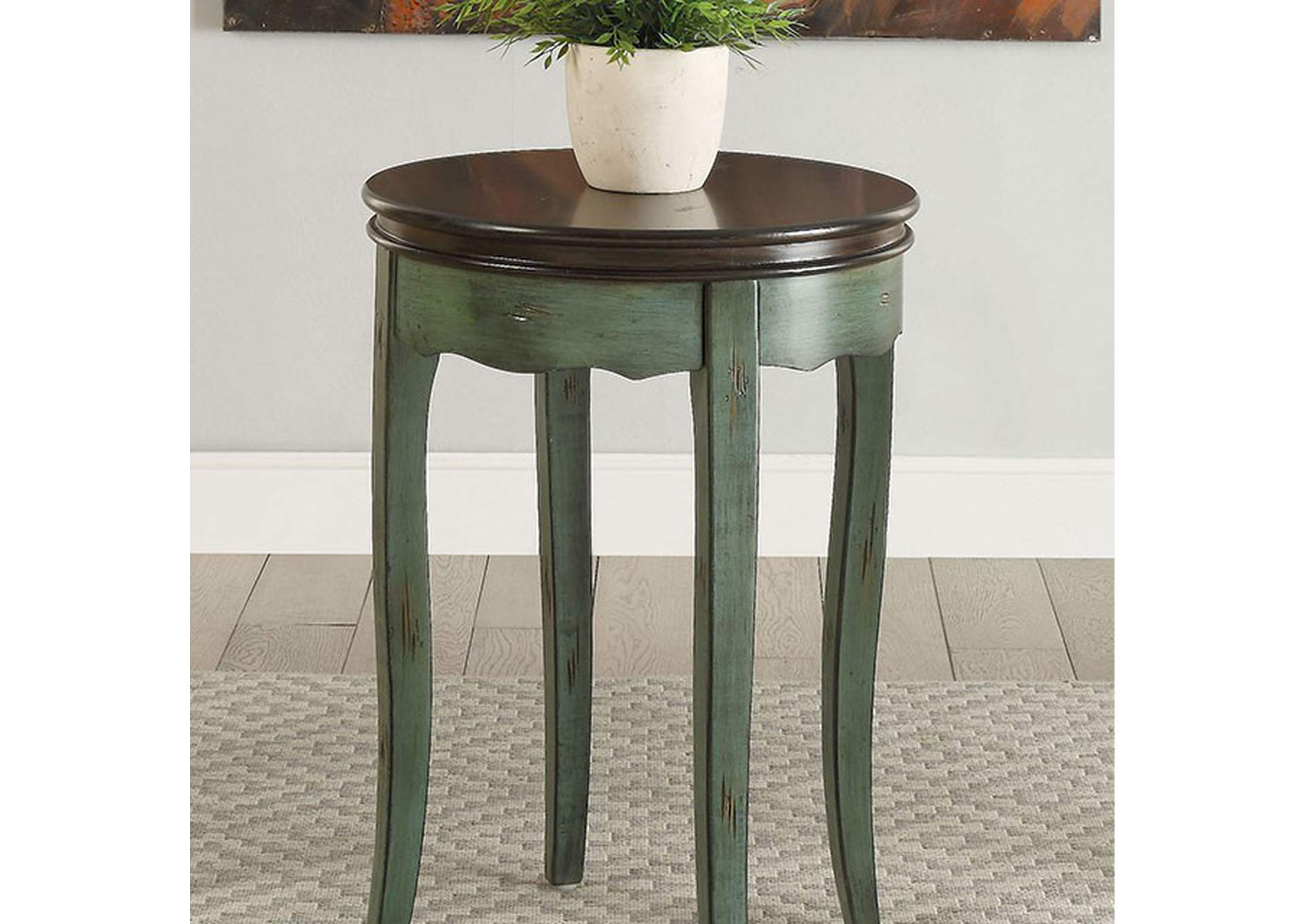 Molly Green Round Side Table,Furniture of America