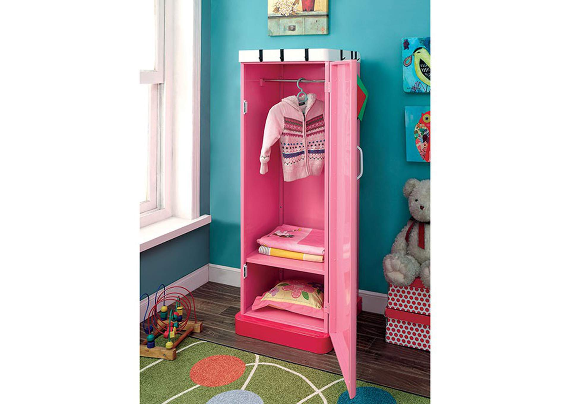 Petro ll Pink Single Closet,Furniture of America