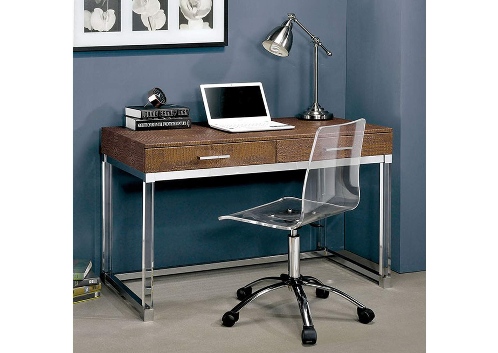 Tilly Brown Desk,Furniture of America