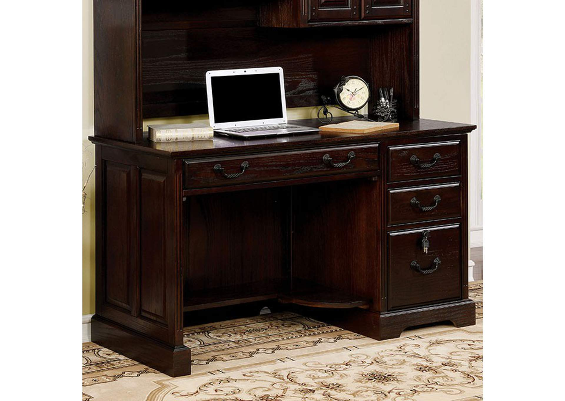 Tami Dark Walnut Credenza Desk,Furniture of America