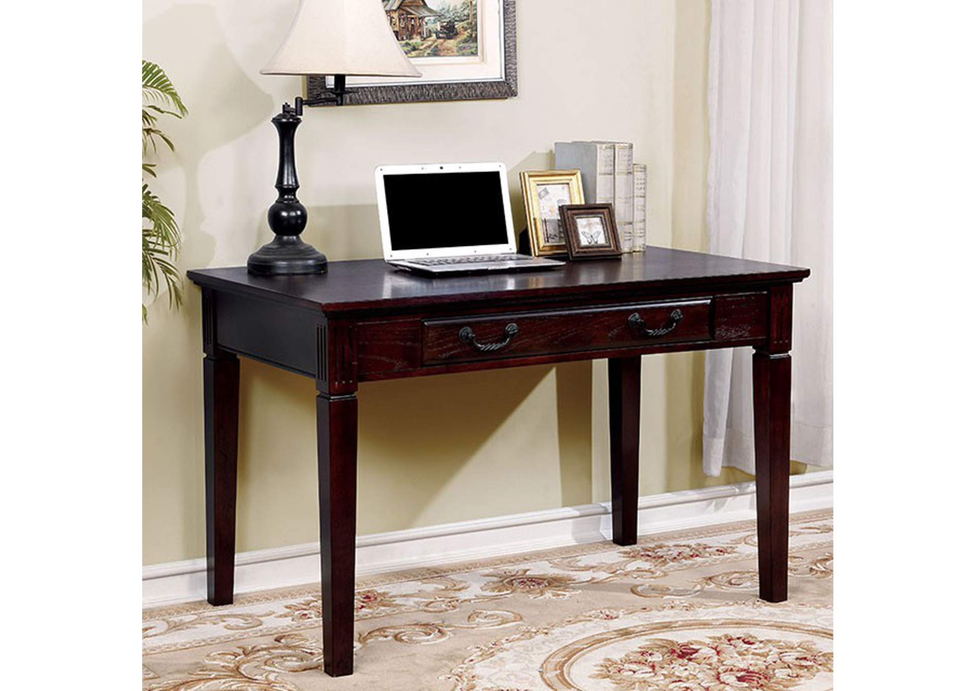 Tami Dark Walnut Writing Desk,Furniture of America