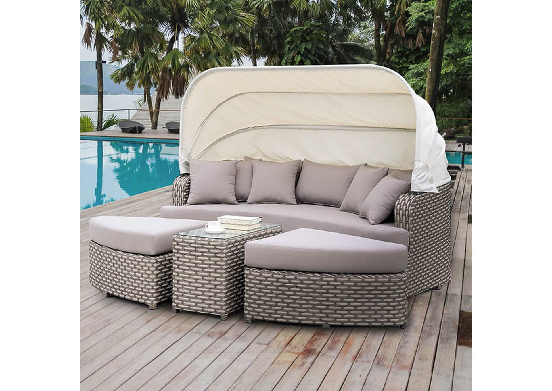 Riya 4 Piece Patio Daybed,Furniture of America