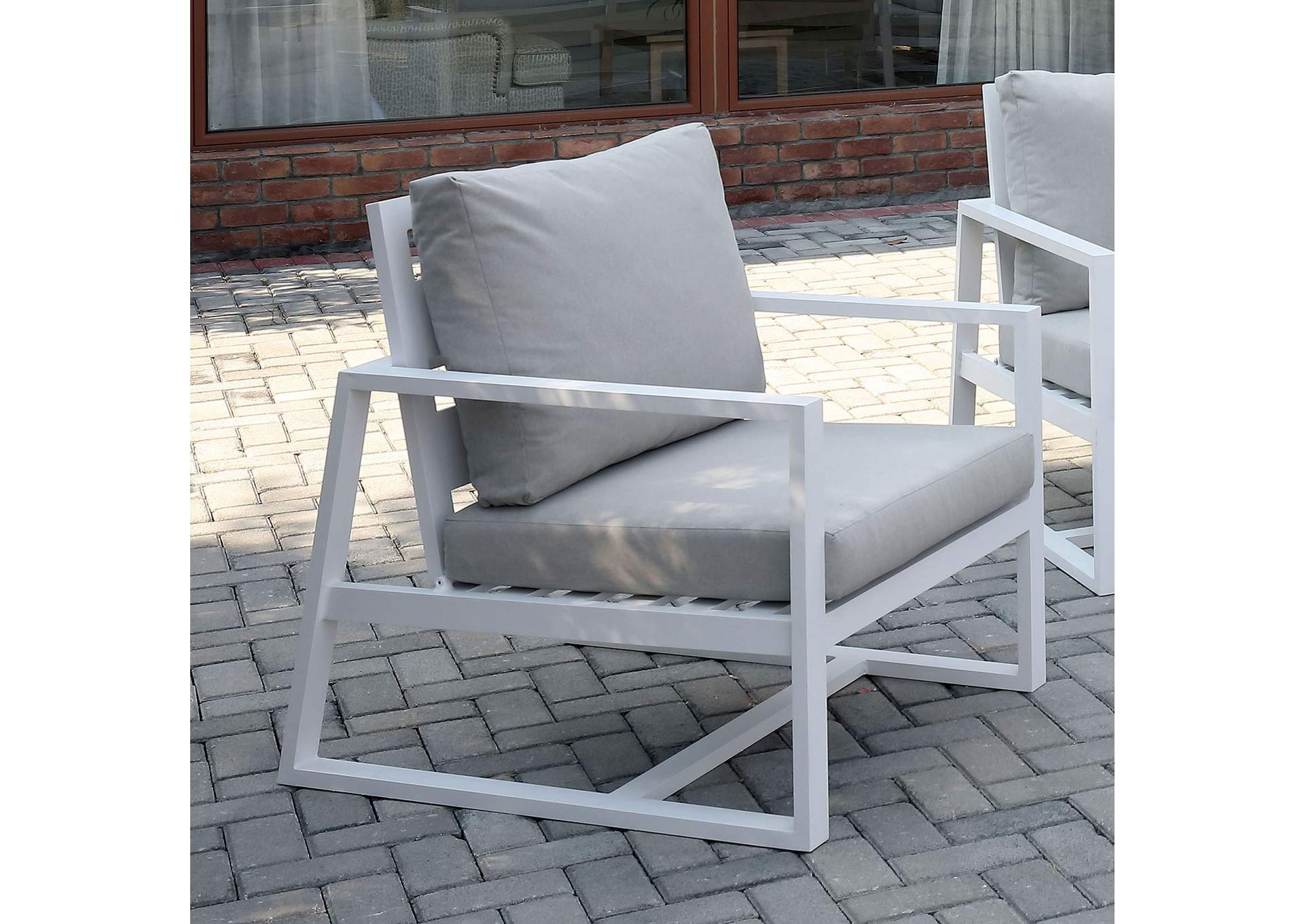 India Beige Patio Arm Chair,Furniture of America