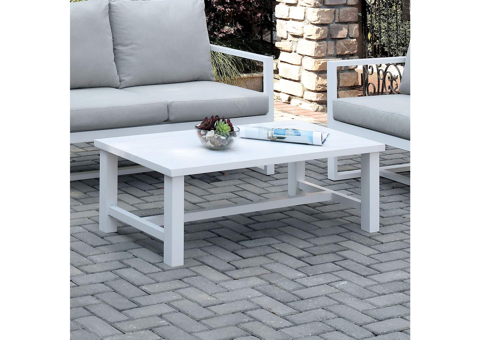 India White Coffee Table,Furniture of America