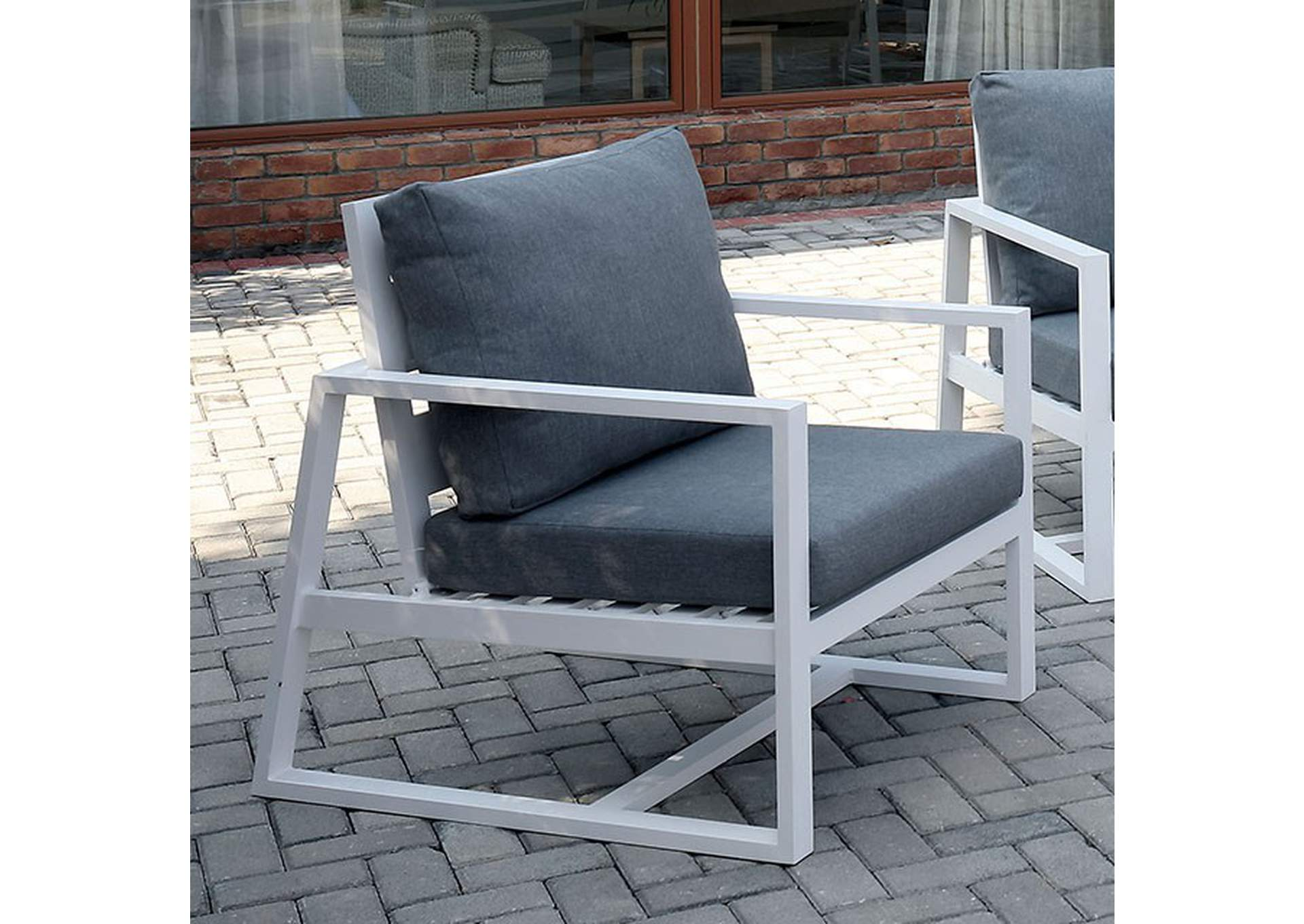 India Gray Patio Arm Chair,Furniture of America
