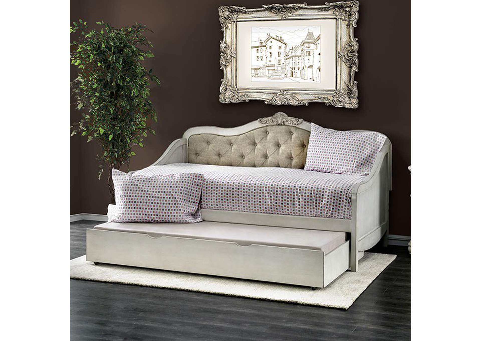 Sebastianne White Daybed,Furniture of America