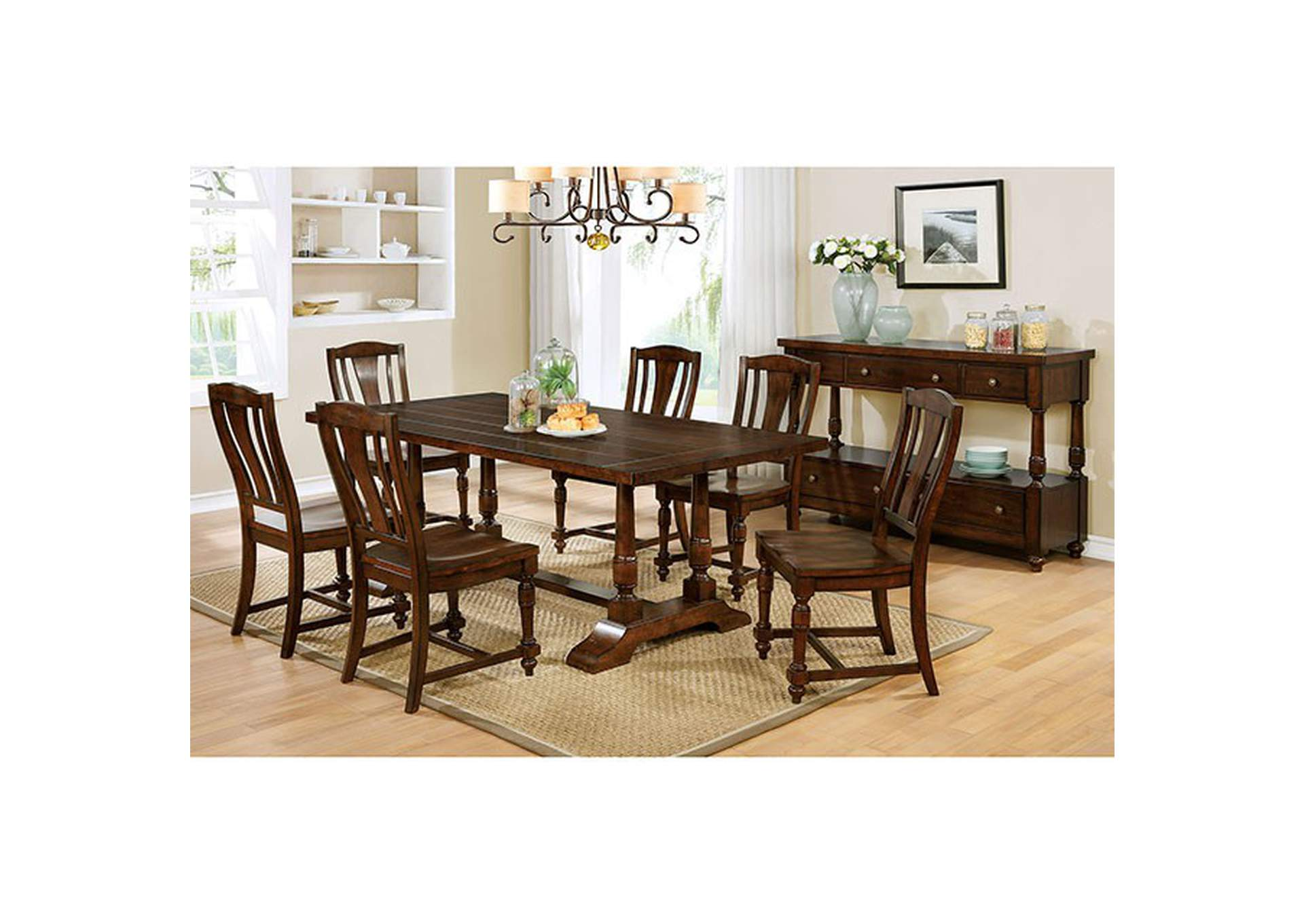 Griselda Brown Cherry Dining Table,Furniture of America