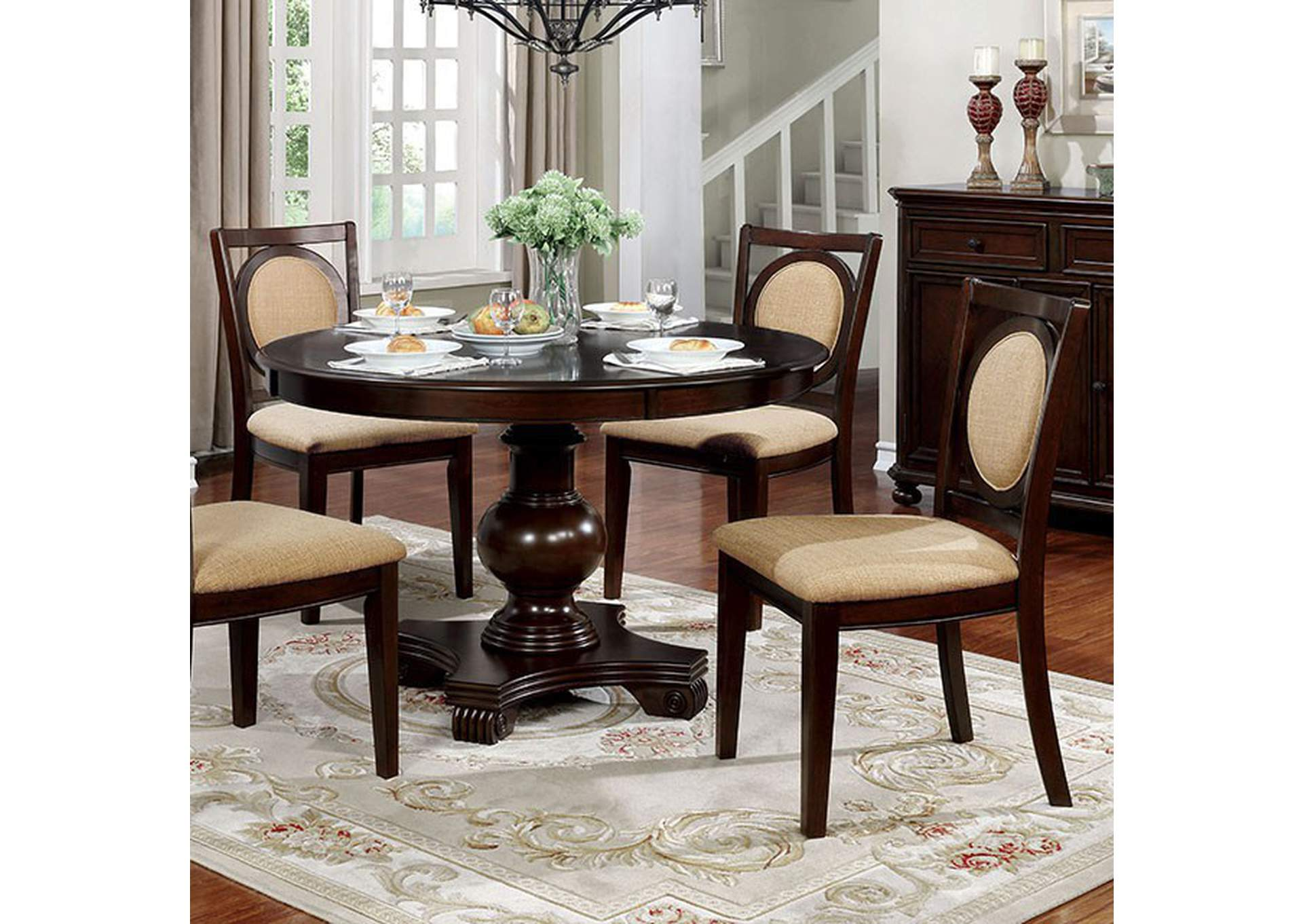 Abergele Round Dining Table,Furniture of America