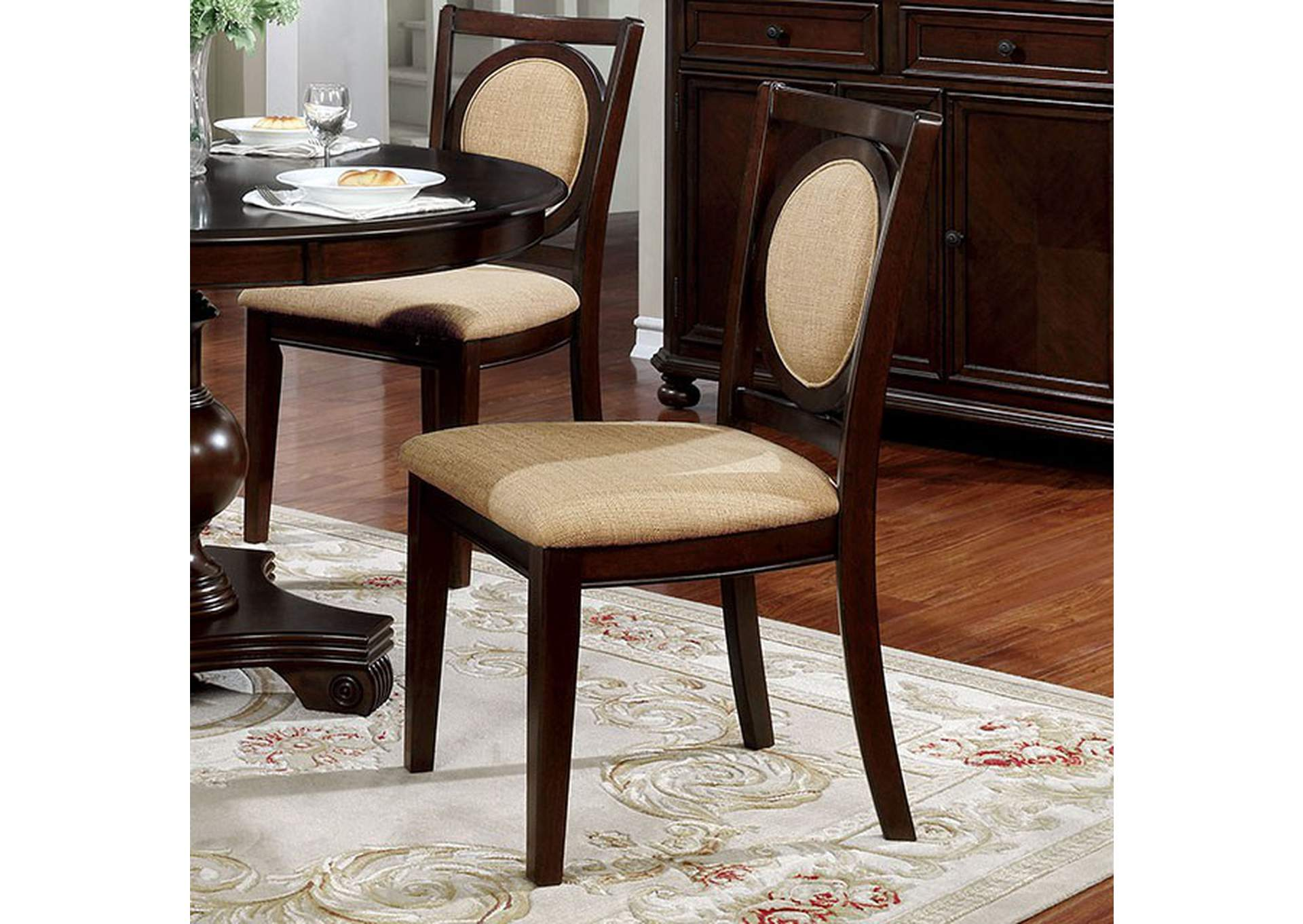 Abergele Side Chair (Set of 2),Furniture of America