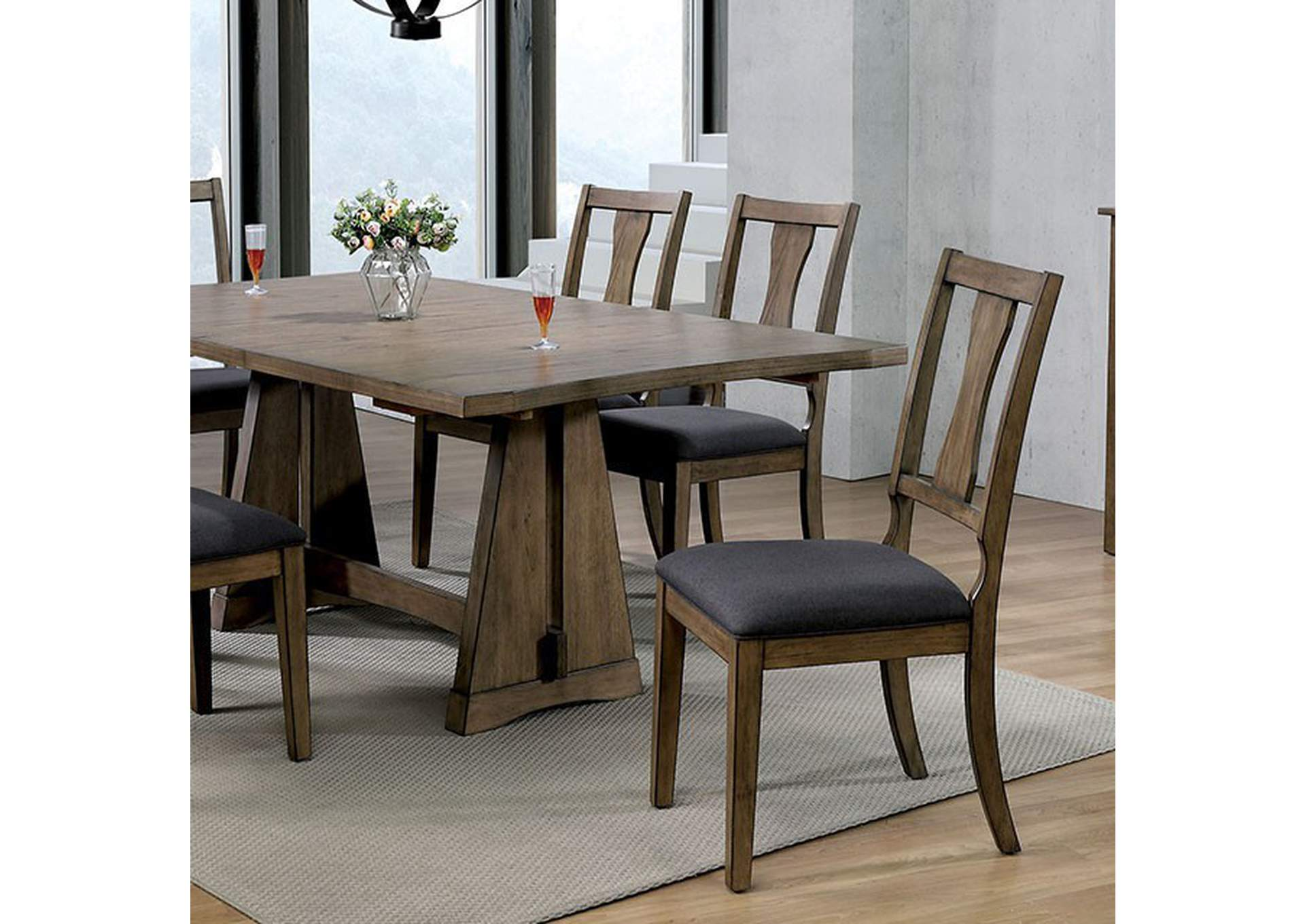 Benllech Dining Table,Furniture of America